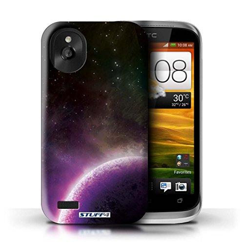 Kobalt® Imprimé Etui / Coque pour HTC Desire X / Nébuleuse Verte conception / Série Cosmos Planète Pourpre