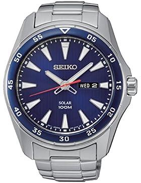 Seiko Herren-Armbanduhr Solar Analog Quarz Edelstahl SNE391P1