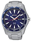 Seiko Men's Quartz Watch Solar SNE391P1 with Metal Strap