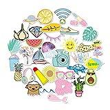 Etitulaire Filles Autocollant Graffiti Stickers,35 Pcs Imperméable Sticker Vinyle Ordinateur Portable Autocollants pour Bouteille d'eau, Voitures Moto Vélo, Téléphone, Bagage, Skateboard, Guitare