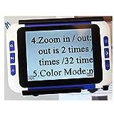 DAMAI Digital Video Magnifier 20X 3.5 Zoll Handportable Mobile Elektronische Lesehilfe Leselupen Für Sehbehinderte, Senioren, Makuladegeneration, Menschen Mit Hoher Kurzsichtigkeit