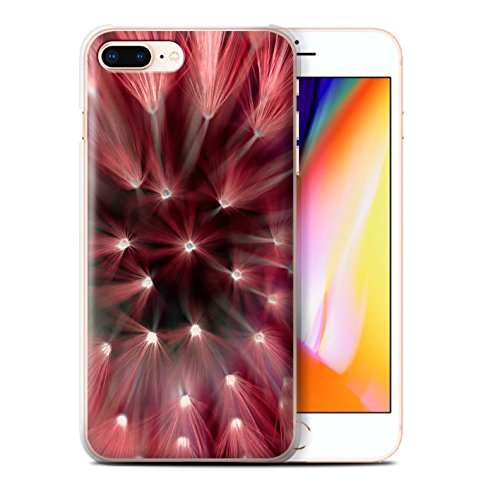 Stuff4 Hülle / Case für Apple iPhone 8 Plus / Grün Muster / Multi Farbe Licht Blume Kollektion Rot