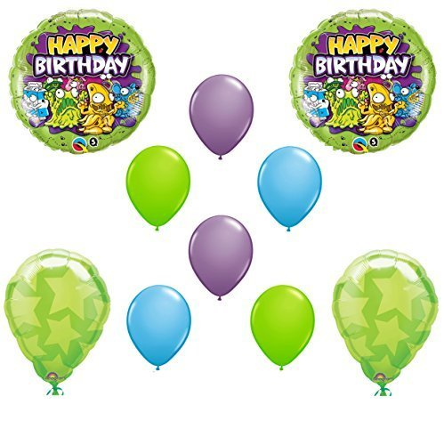 The TRASH PACK Birthday Balloons 10 piece set by Qualatex