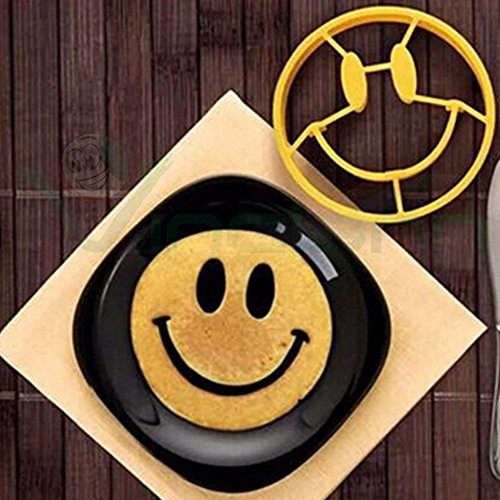 Stampo silicone forma SMILE uovo uova pancake anello resistente cottura cucina
