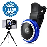 Drumstone 235 Degree Super Fish Eye Selfie Photo Camera Lens With8X Zoom Telescope Mini Stand Compatible With All Smartphones