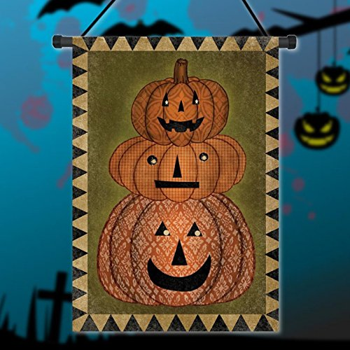 EgBert 30X45Cm Halloween Kürbispolyester Welcome Flag Garden Holiday Decoration