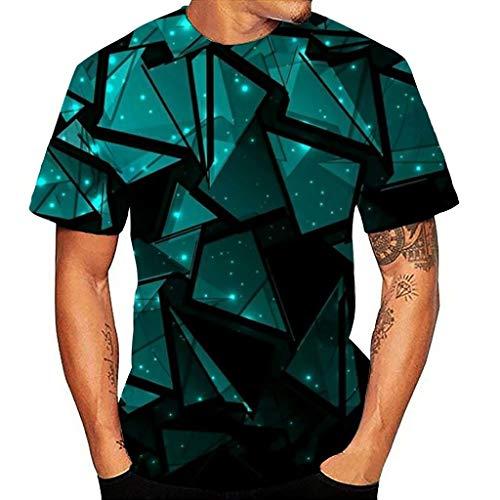 kolila Herren Damen Sommer Casual T-Shirts T Shirt 3D-Drucken Design Unisex Lose Rundhals Kurzarm Tops Bluse Oberteile