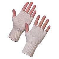 Supertouch 252W4 (LARGE) 252W4 Stockinet Fingerless Gloves, Single Pair, Size 9/Large, White