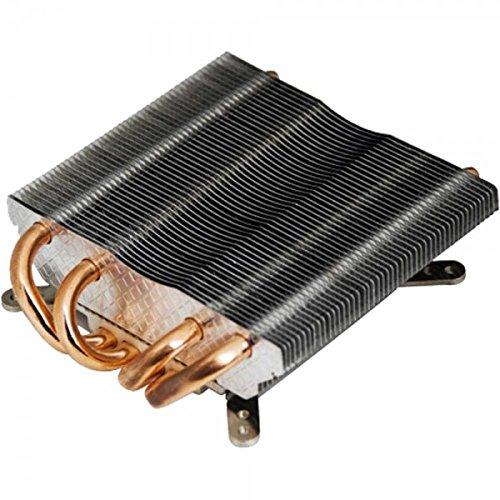 Titan TTC-NC25/HS CPU-Kühler Low-Profile für Intel und AMD, passiv, Heatpipe schwarz