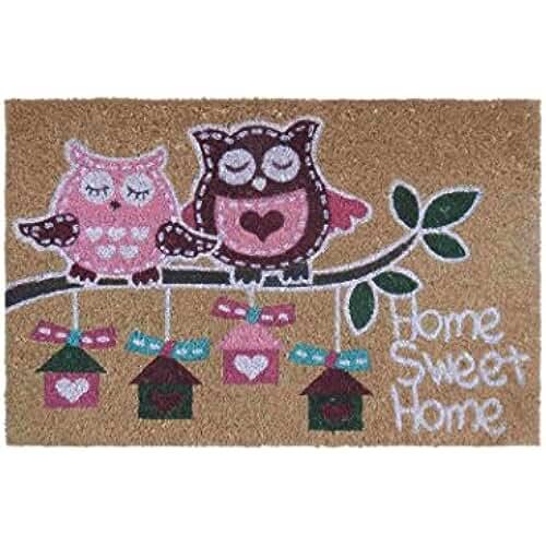 dia del orgullo friki Felpudo pink owl fibra de coco 60 x 40 cm felpudo coco. 15 mm. espesor. impresión acrílica.