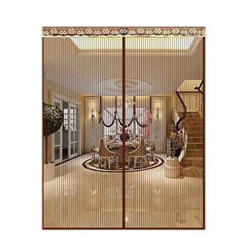 BYCDD Insektenschutz Vorhang, Schließt automatisch TüRvorhang Magnetic Mesh Vorhang für Moskito-Insekt,Coffee color_32x80in/80x200CM