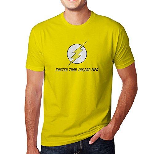 Planet Nerd - Flash Faster Than 18682 MPS - Herren T-Shirt Gelb