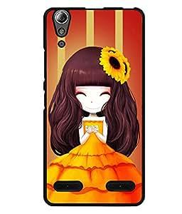 Fuson 2D Printed Girly Designer back case cover for Lenovo A6000 - D4345