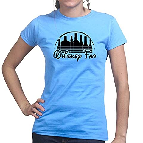 WomensWhiskeyFanFunnyGiftLadiesT Shirt(Tee,Top)LBL X-Large Light Blue