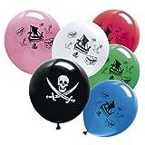 BABY-WALZ Piraten-Ballons Kindergeburtstag, mehrfarbig