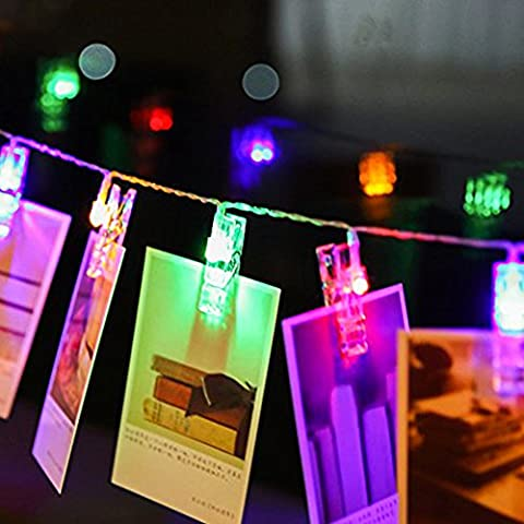 20 LED-Foto-Clips String Lights, 7,2 ft Weihnachten Starry Licht, Batterie