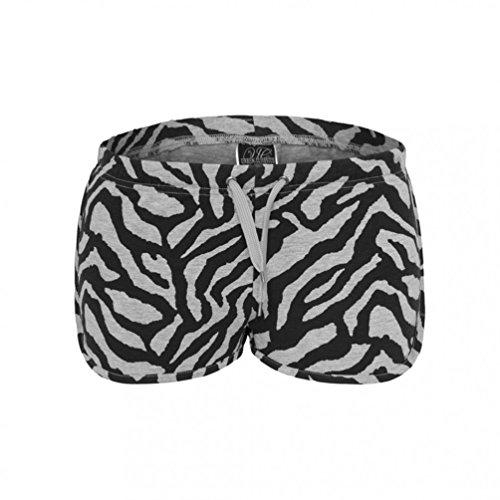 Urban Classics Ladies Zebra Hotpants Shorts Grey/B Grey