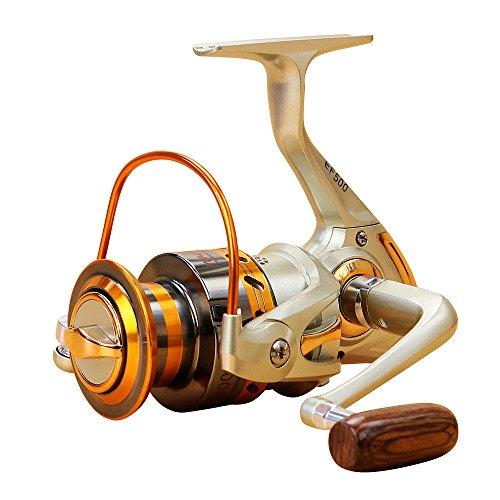 Lixada 12 BB Carretes de Pesca Izquierda/Derecha Intercambiables Mango Plegable Pesca Carrete Spinning (EF500)