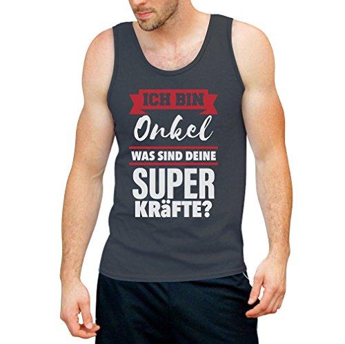 Geschenke für Onkel - Ich bin ONKEL Was sind deine Superkräfte? Tank Top Dunkelgrau