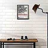 KINLO® Tapete Wand Wohnzimmer 3D Top 5mx0.53m tapete vlies Ziegel Modell wandaufkleber schalfzimmer fototapete modern Weiss tapete selbstklebend 2 Jahren Garantie