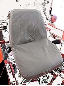 Durafit Seat Covers, KU09 V7 Kubota Seat Covers for tractor B2320, B2620, B2920, B3200, B7410, B7510, B7610, B7800, BX1850, BX2350, BX24, BX25, M5640, M7040 in Gray Velour Velour