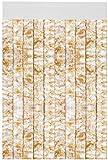 Flauschvorhang individuell kürzbar Auswahl: Meliert beige - weiß 120 x 220 cm