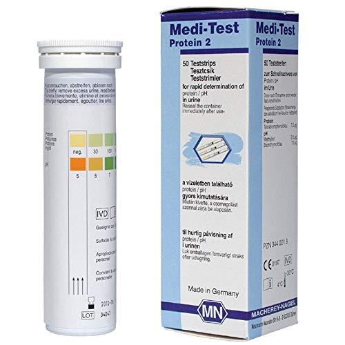 Protein Nagel (Medi-Test Protein 2 urine teststrips)