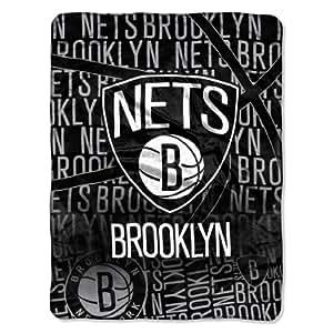 northwest brooklyn nets micro raschel super plush nba. Black Bedroom Furniture Sets. Home Design Ideas