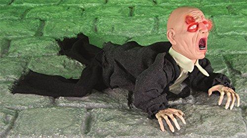 Halloween Grusel Zombie, batteriebetrieben, Sound und Bewegung! (Haus Sensenmann Kostüme)