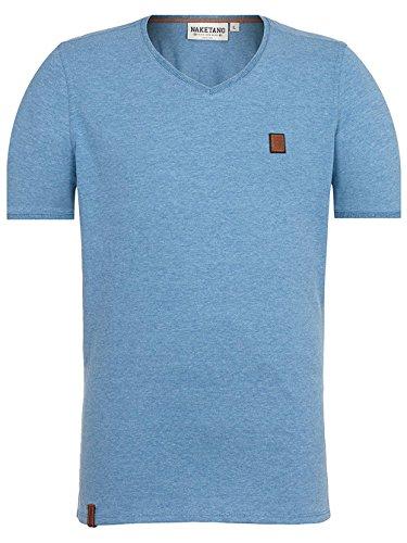 Naketano Male T-Shirt Gelinde gesagt IV light blue melange