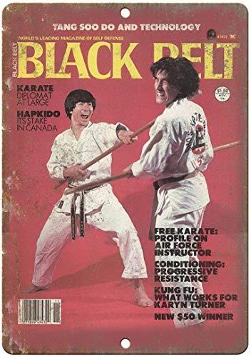 ABLERTRADE Metallschild, Motiv: Karate Magazin Cover Vintage, personalisierbar, schickes Geschenk, 30,5 x 40,6 cm