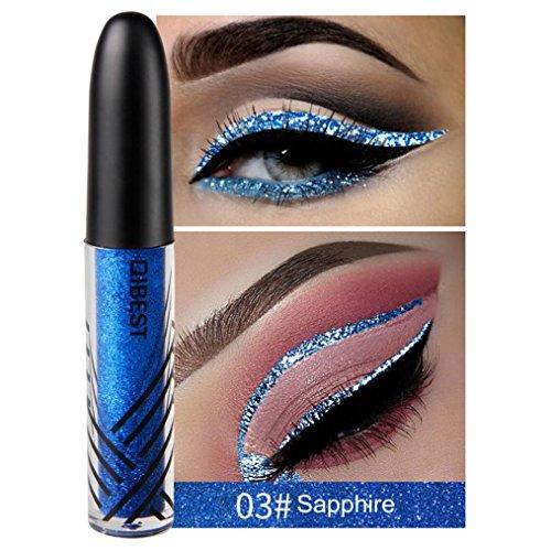 Palette de Fard à Paupière Durable mode Makeup Palette Stylo d'ombre à paupières, Eyeliner Liquide Brillant à PaupièRes Smokey Ey ImperméAble à L'Eau (03#)
