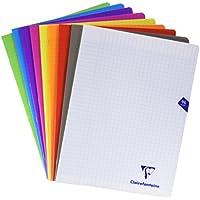 ClaireFontaine - 299361AMZC - Cahier Piqué Couverture Polypro 96 Pages 24x32 cm - couleurs assorties - Lot de 9