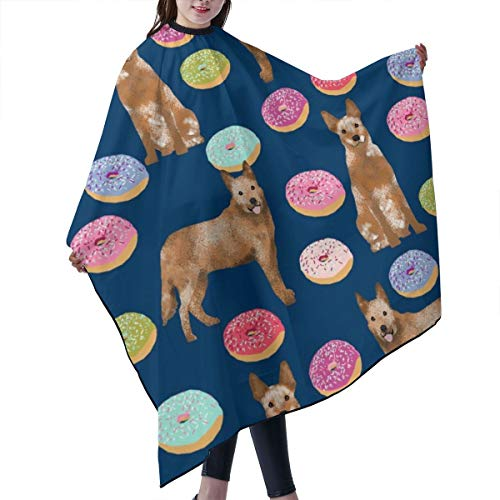 Barber Cape,Australian Cattle Dog Donuts Donuts, Dog Donut, Food, Cute Dog, Pet Friendly Red Heeler Navy Salon Polyester Cape Haircut Apron 55