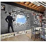 3D Tapete WandgemäldeFür Zimmer Retro Ziegelmauer Von Jugend Ktv Bar Nostalgische Dekorative Wand Badezimmer Seidentuch Kleber senden Benutzerdefiniert