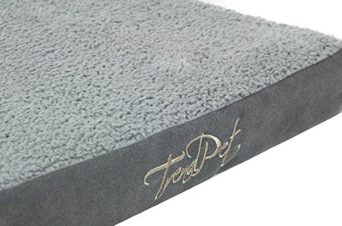 TrendPet VitaMedog - Viskoelastische Matratze für Hunde 110 x 80 x 5 cm grau Hundebett