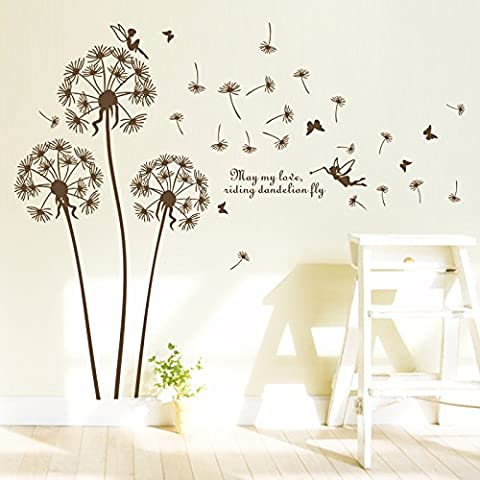 Romantico pastorale tarassaco Wall stickers Creative Deco Deco Living Room
