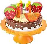 Legler small foot Kinderküchen-Zubhehör Geburtstagstorte aus Holz -