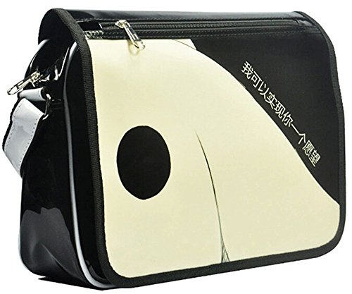 Siawasey anime giapponese Cartoon Cosplay messenger bag zaino borsa a tracolla (31modelli) nero Gintama Puella Magi Madoka Magica