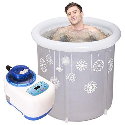 baignoire gonflable adulte Bain de bain de vapeur grand épaississement / thermostatique / massage / baignoire pliante Baignoire gonflable de ménage , 75*80cm