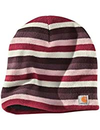 Carhartt Striped Knit Beanie - Light Orchid Womens Warm Winter Ski Hat CHWA002LOR