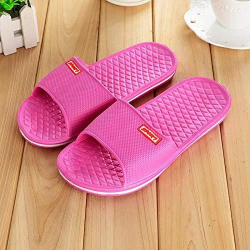 BARCTELRT Sandali Piatti Flip Sexy Pantofole da Bagno Pantofole da Bagno Studenti A Casa Uomini e Donne Leggeri Coppia Casual Rose Red 40 Yards