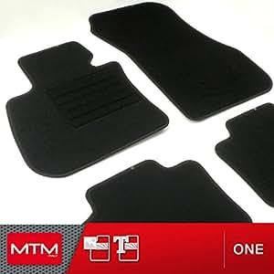 mtm tapis de sol serie 2 f45 active tourer 2015 sur mesure en velours noir one. Black Bedroom Furniture Sets. Home Design Ideas