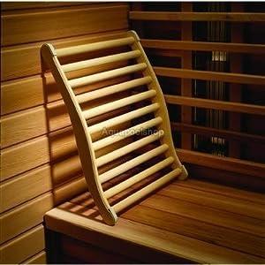 HOFMEISTER® Sauna Rückenlehne, 51 cm, Linden-Holz für hohe Temperaturen, ergonomisch geformt, rutschfeste Kork Stopper…