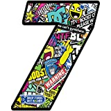 Número 7 DC Bomb Calavera Vinilo Adhesivo Pegatina Coche Auto Motocross Moto Sport Start Racing Tuning N 207