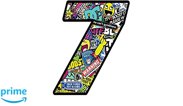 N 208 8 Adesivo Sticker Bomb Numero Racing Gara Auto Moto Cross Rally Sport Tuning