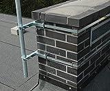 Supporto Antenna Supporto Camino Kaminhalter Albero Antenna Antennenmasthalter + 5m Nastro Piatto