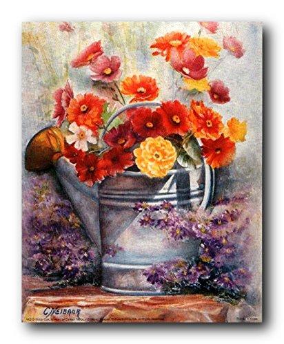 Fine-art-wasser (Wasser kann mit Blumen Still Life Fine Art Print Bild Poster (16 x 20 cm))