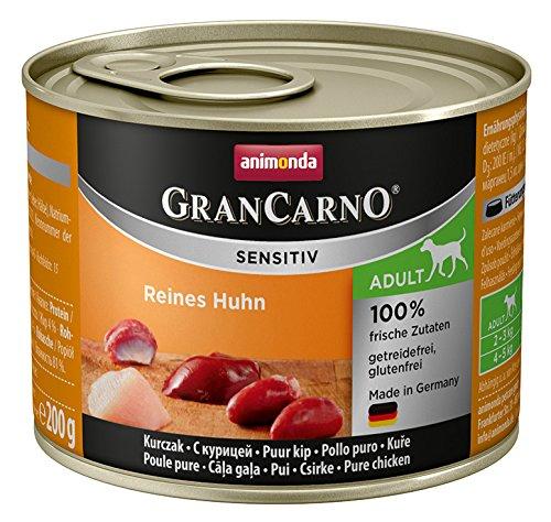 Animonda GranCarno Hundefutter Sensitive Adult Reines Huhn, 6er Pack (6 x 200 g)