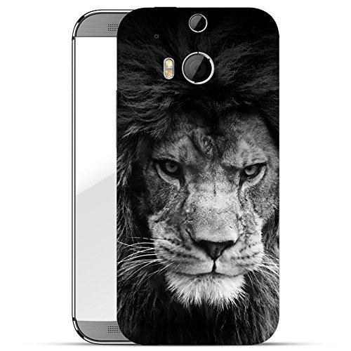 finoo | HTC one M8 Hard Case Handy-Hülle mit Motiv | dünne stoßfeste Schutz-Cover Tasche in Premium Qualität | Premium Case für Dein Smartphone| Löwe V3